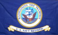 US Navy Retired flag